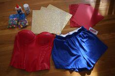 wonder woman costume materials