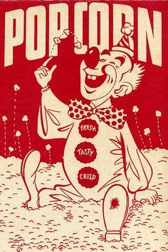 1950's popcorn box art