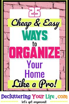 Organization Tricks To Declutter and Organize Your Clutter at Home The Cheap and Easy Way - help article tagged: organize bathroom counter, declutter and organize, organizing your home, weekly organization, getting organized at home on a budget, DIY organization, paper clutter