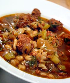 Chickpea & chorizo soup - looks like a great winter evening meal!