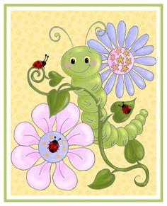 Caterpillar+and+Ladybugs by+HamiltonArtandDesign