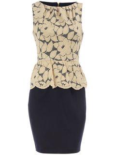 lace peplum dress..