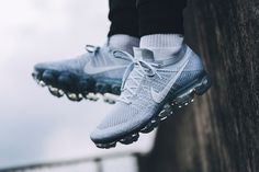 Up Close with the Nike Air VaporMax (Pure Platinum) – Sneaker Freaker Sneakers Nike, Sneakers Fashion, Nike Shoes, Fashion Shoes, Men's Shoes, Nike Running, Running Shoes, Nike Vapormax Flyknit, Shoe Photography