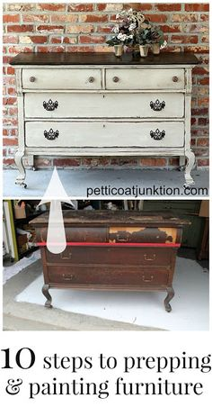 10 steps to prepping and painting furniture collage petticoat junktion