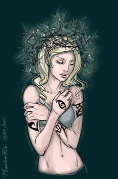 Helen Blackthorn wearing a blackthorn crown ... From phantomrin ...   the mortal instruments, helen blackthorn