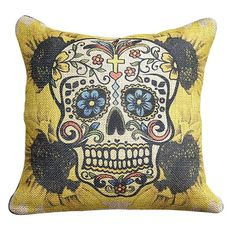 I pinned this Calavera Pillow from the Dia de los Muertos event at Joss and Main!