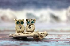 Personalized owls Wedding cake topper  a pair of by orlydesign, $45.00