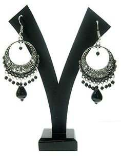 Christmas Gift Ideas Alluring Hand Crafted Jhumkas with Black Bead Droplet Earrings Indian Jewelry Mogul Interior http://www.amazon.com/dp/B00QK0KFPY/ref=cm_sw_r_pi_dp_T4LIub0K67JHX