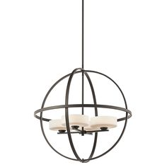 Buy the Kichler Olde Bronze Direct. Shop for the Kichler Olde Bronze Olsay Single-Tier Globe-Style Chandelier with 4 Lights - Stem Included - 29 Inches Wide and save. 3 Light Chandelier, Bronze Chandelier, Candle Chandelier, Chandeliers, Light Pendant, Bronze Pendant, Orb Light Fixture, Lustre Globe, Multi Luminaire