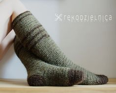Naalbinding long socks made of icelandic wool lopi, perfectly warm and great to use during colder re-enactment events