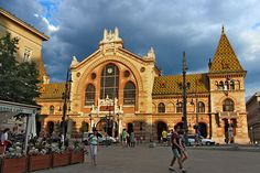 Budapest- The Central Market area. Hungary