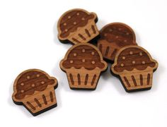 Laser Cut Supplies-8 Pieces. Cupcake Charms - Laser Cut Wood Cupcake -Earring Supplies-  Little Laser Lab Sustainable Wood Products by LittleLaserLab on Etsy https://www.etsy.com/listing/162629667/laser-cut-supplies-8-pieces-cupcake