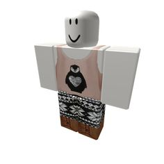 Christmas B&W Leggings with Pink Penguin Top - ROBLOX