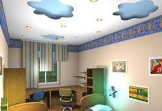 Çocuk-Odaları-İçin-Tavan-Tasarımları Kids Room, Children, Home Decor, Young Children, Room Kids, Kidsroom, Kids, Interior Design, Children's Comics