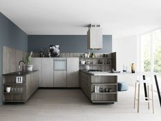 Wooden Floor Dark Gray Designer Kitchen Lucrezia Of Cesar | Kitchen Designs  | Pinterest | Moderne Küche, Innovativ Und Moderne Einrichtung