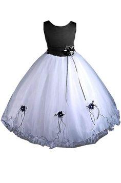 AMJ Dresses Inc Girls Black/white Flower Girl Pageant Dress Size 6 AMJ Dresses Inc,http://www.amazon.com/dp/B00E9OZGXY/ref=cm_sw_r_pi_dp_Paritb0TB77MHCW0