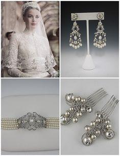 grace kelley jewels   clockwise from upper left: Grace Kelly, Vintage chandelier earrings ...