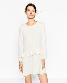 Zara Frilly Dress. Style: Frilly Dress. Color: White. Size: Large.   eBay!