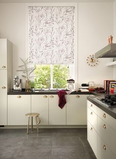 Fabulous Florals | Luxaflex® - The Art of Window Styling⠀⠀⠀⠀⠀ Blinds For You, Window Styles, Roller Blinds, Your Space, Kitchen Cabinets, Windows, Florals, Home Decor, Art