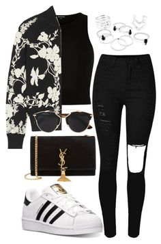 """Untitled #15"" by biancamarie17 on Polyvore featuring River Island, Alexander McQueen, adidas, Yves Saint Laurent, Christian Dior, women's clothing, women, female, woman and misses"