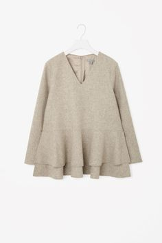 Oversized A-line wool top