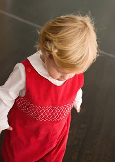 Red Holiday Smocked Longall from Smocked Auctions  the debut of our capsule  collections with   69beac7c66da