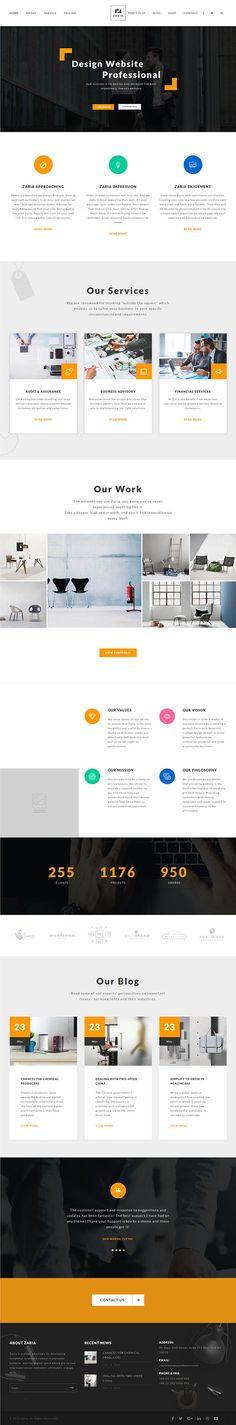 Zaria – A Beautiful & Smart Business WordPress Theme