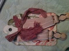 Pink garters - vintage all the way