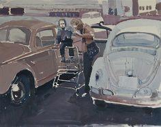 popgoesred: Clara Adolphs Sunday Soon Oil on Canvas