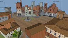 Piazza delle sette vie (P. 3d Warehouse, Cavalier, Pisa, Multi Story Building, Nursery Trees, Cities, Knight