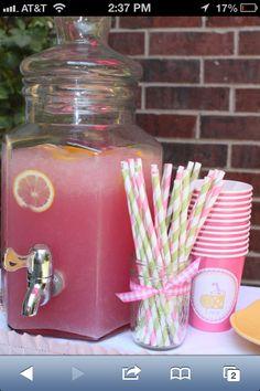Pink lemonaid theme for summer baby