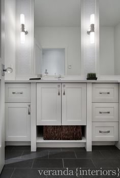 Hillhurst {custom spec} - transitional - Bathroom - Calgary - Veranda Estate Homes & Interiors Calgary, Veranda Interiors, Modern Home Furniture, Home Inc, Transitional Bathroom, Cabinet Styles, Reno, Estate Homes, Tile Design