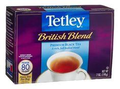 TETLEY TEA BRITISH BLEND..