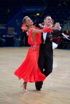 Simone Segatori and Annette Sudol at WDSF Standard World Championship Vilnius Lithuania 5 Dec 2015