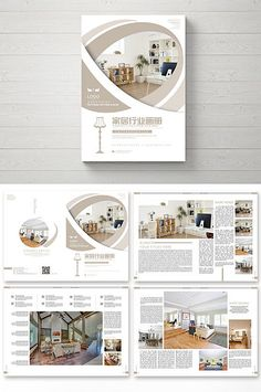 fresh and beautiful home furnishing industry brochure Graphic Design Brochure, Brochure Layout, Branding Design, Identity Branding, Visual Identity, Brochure Template, Page Layout Design, Book Design, Cover Design