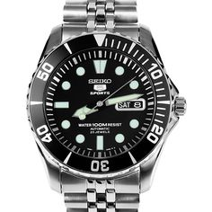 7912ea20a10a74 Seiko 5 Sports Automatic Mens Diver Watch SNZF17K SNZF17 Jubilee Seiko 5  Sports Automatic, 100m