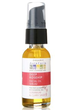 Aura Cacia Organic Deep Rosehip Facial Oil Serum