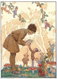 Margaret Tarrant - Brownie's Christmas Card