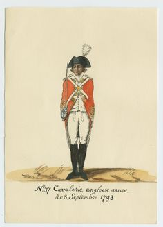 Britsh; Heavy Cavalry, Trooper, Bruges, 8th September, 1793, by CCP Lawson(maybe 3rd or 6th Dragoon Guards, based on the white facings)