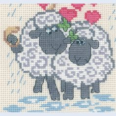Sheep Love - counted cross-stitch kit Permin