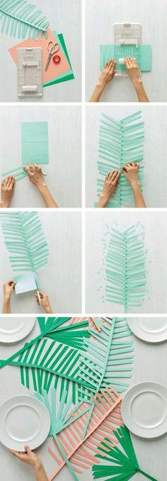 hoja de palmera de papel