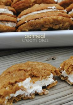 Oatmeal Cream Pies -- Dessert time can't come soon enough with this delicious recipe!
