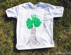 DIY kids tree shirt