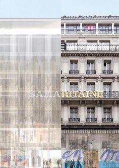 SANAA / renovation of La Samaritaine . Architecture Old, Architecture Details, Old Building, Multi Story Building, Ryue Nishizawa, Sou Fujimoto, Facade, Contemporary, Interior Design