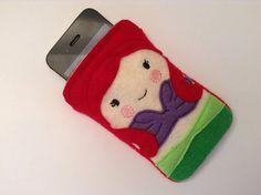 iPhone 4 5 Samsung Galaxy 34 Felt Little Mermaid by BabyRockCrafts, $15.00