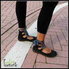 Chaussures El naturalista customisées avec du biais France Duval Stalla