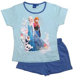 Frozen Pyjama Kollektion 2016 Die Eiskönigin 98 104 110 116 122 128 Schlafanzug Shortie Shorty Kurz Anna Elsa Neu Blau