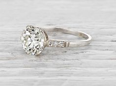 1.90 Carat Edwardian Engagement Ring