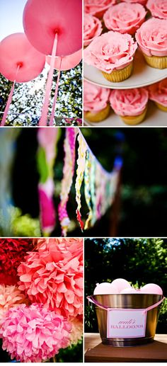 Cute little girl birthday party... WAY over the top, but adorable