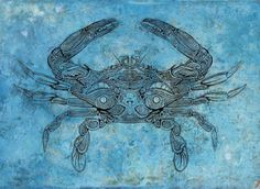 Crab (copper etching)